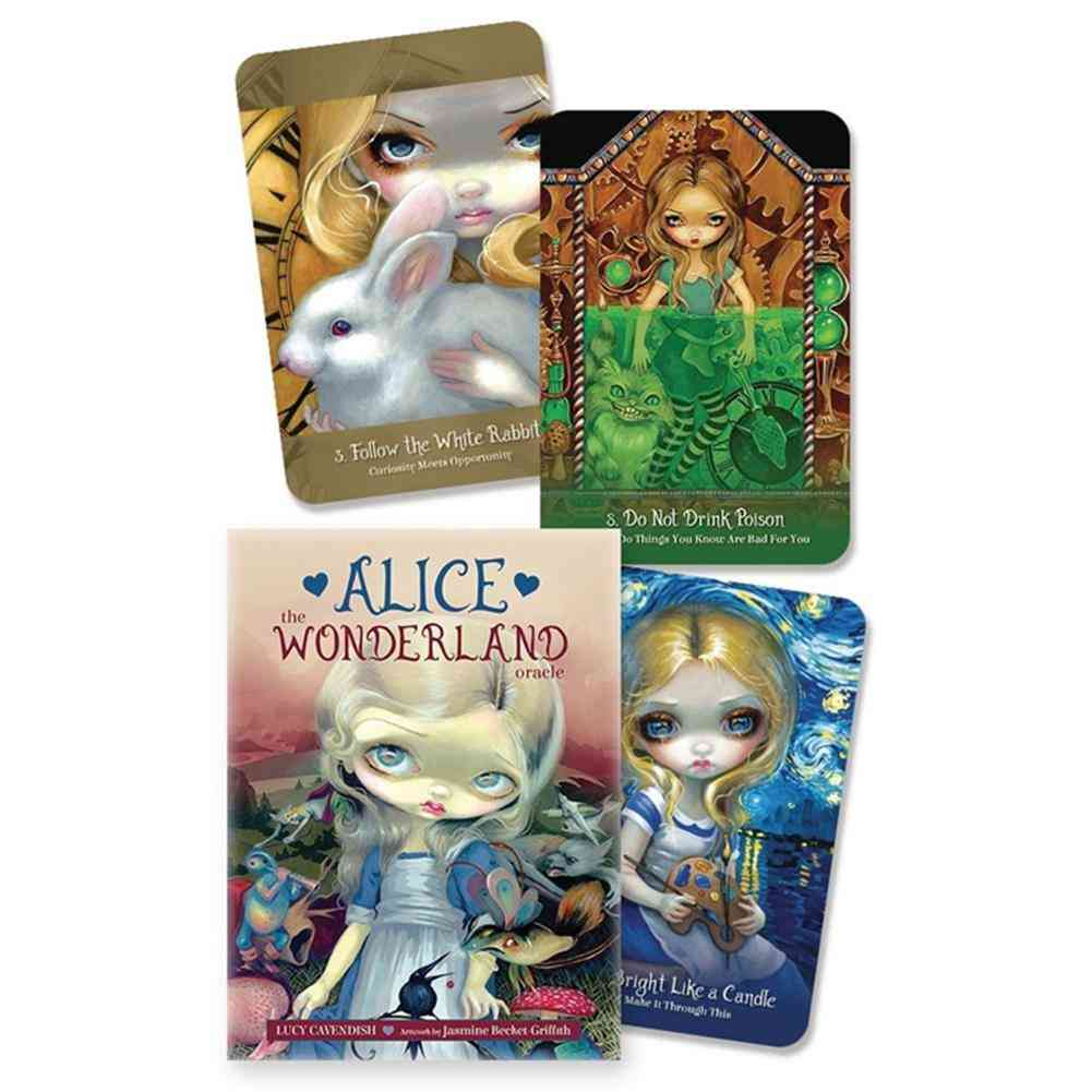The Wonderland Oracle Tarot Cards For Family Kids Game