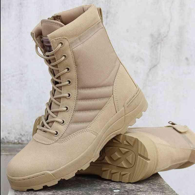 Men Desert Military Tactical Boots, Outdoor Waterproof Hiking Shoes