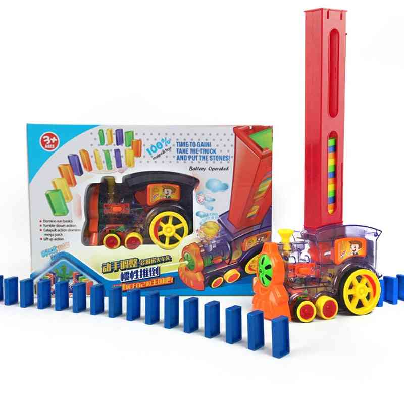 Domino Train Games Toy, Automatic Laying Car Set