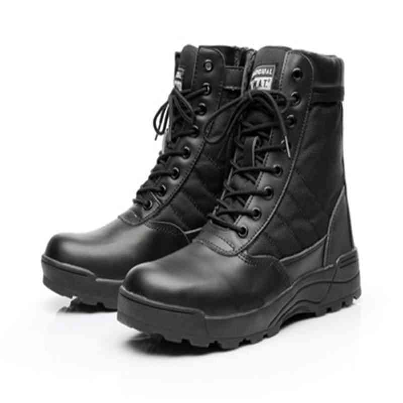 Men Tactical Army Boots, Military Desert Waterproof Work Safety Shoes