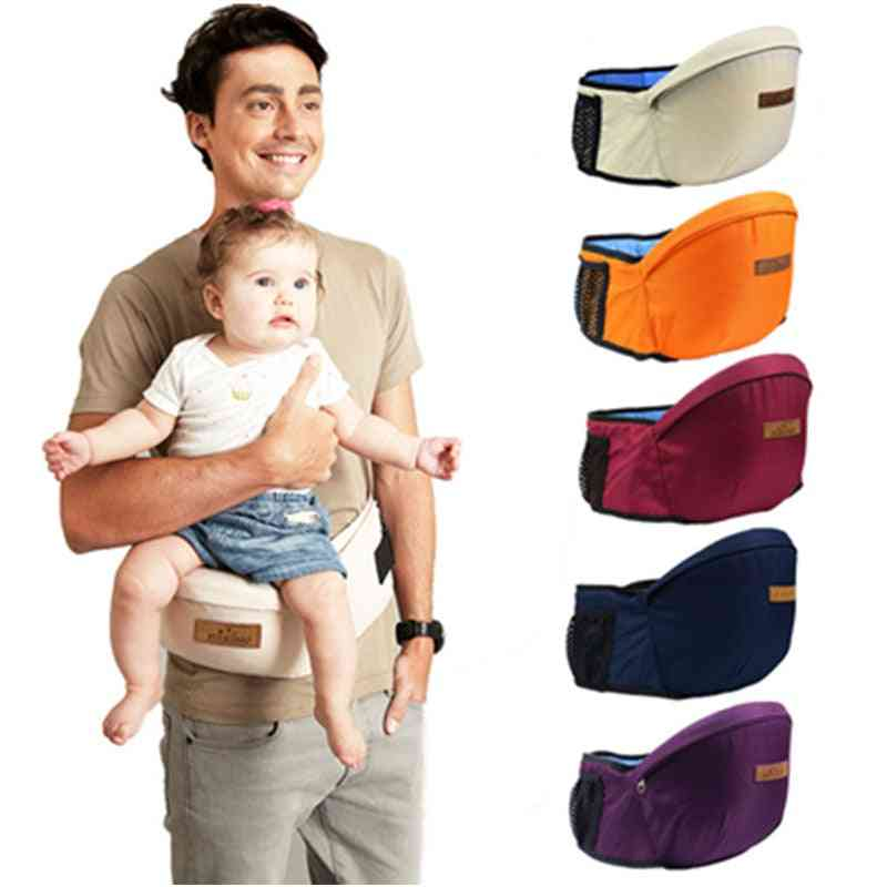 Cotton Baby Waist Stool Carrier Sling, Walkers Bag Front Holder Wrap