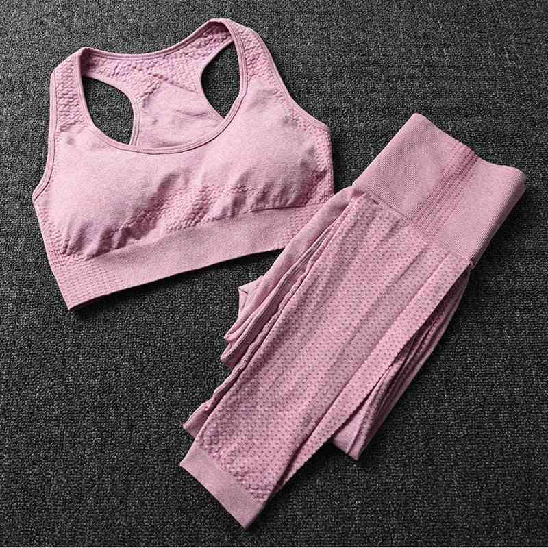 Women Sports Suits Seamless Yoga Set, Leggings Tights & Bra