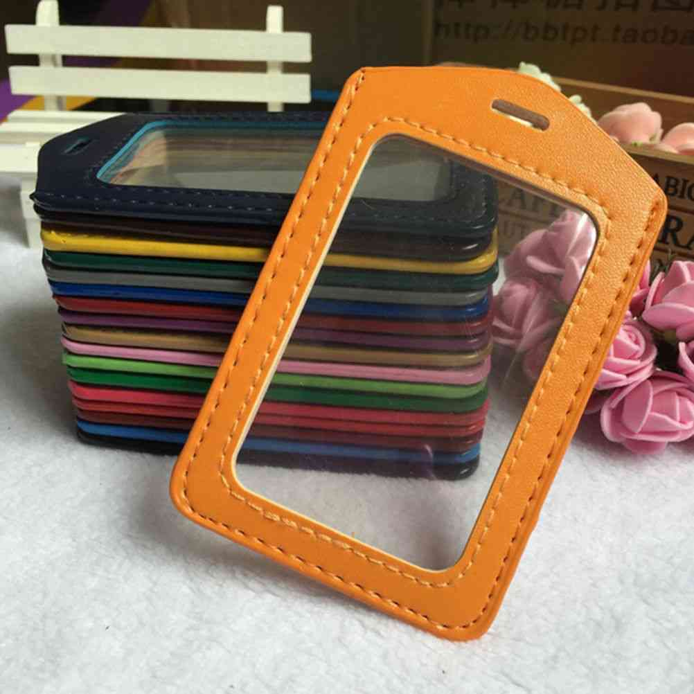 Pu Leather Id Badge Case, Bank Credit Card Holders Accessories