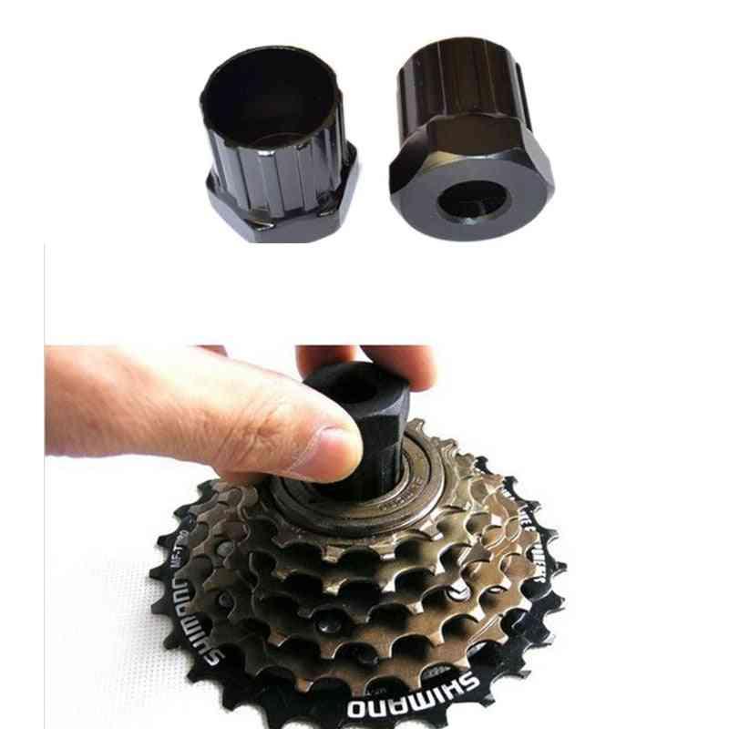 Bike Cassette Flywheel, Freewheel & Lockring Remover Repair Tool, Durable Carbon Steel Wrench