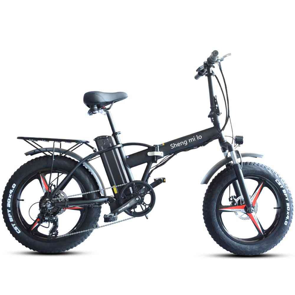 Electric Bike Folding With Lithium Battery Aluminum Alloy Frame