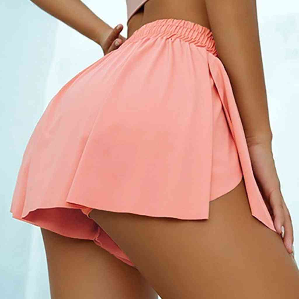 Double-layer Fitness/sports Skirts With Shorts
