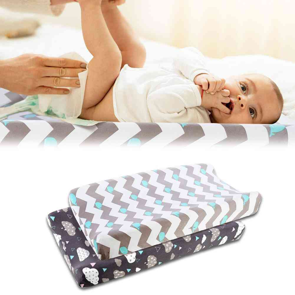 Baby Nappy Changing Pad / Soft Changing Jersey Fabric, Baby Waterproof Mattress Bed Sheet
