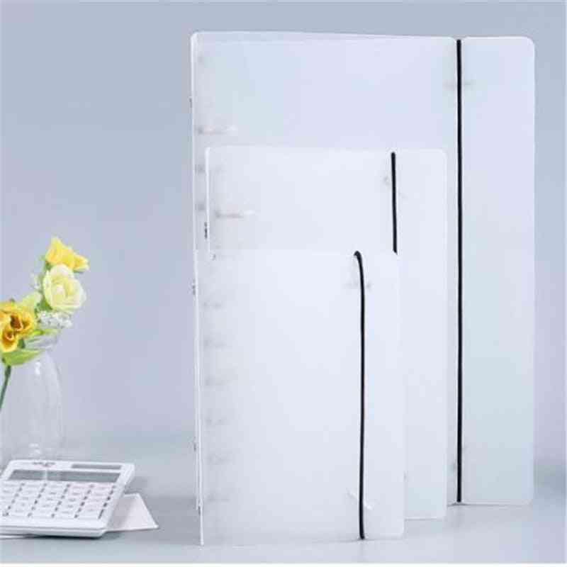 Creative Plastic Frosted Binder With Stainless Steel Loose Hole Clamp