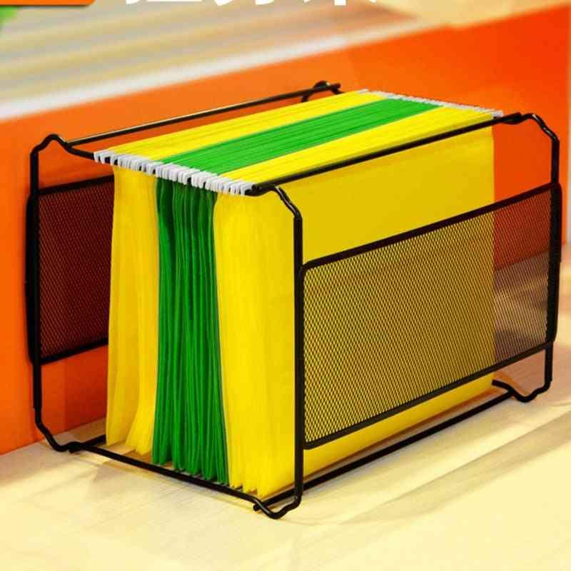 Fc/b4 Mesh Metal File Organizer Box, Hanging File Folder Boxs
