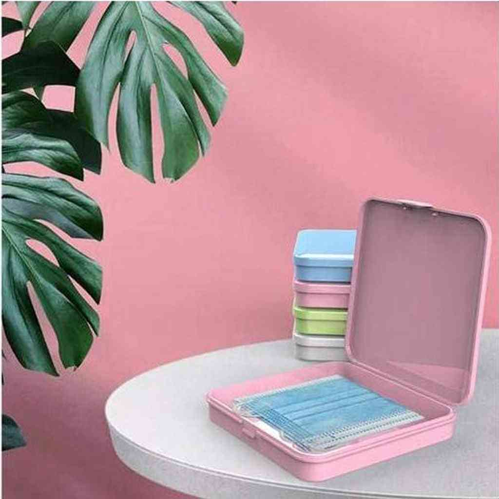 Portable Square Face Masks Container Safe Disposable Solid Color