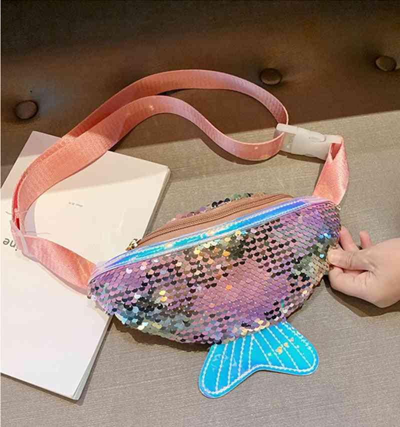 Sequins Fish Tail Design Shoulder Belt Bags