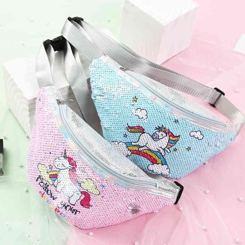 Unicorn Design Sequins Shoulder/waist Bags