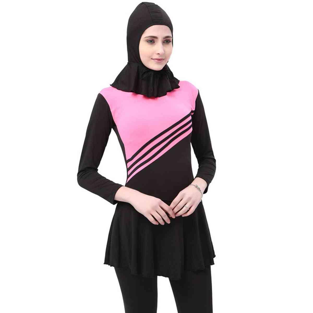 Women's Muslim Islamic Siamese Swimwear Beach Swimsuit Full Cover