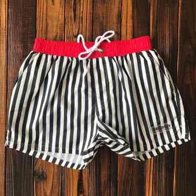 Desmiit Swimwear Men Swim Shorts, Swimming Trunks Striped Swimsuit