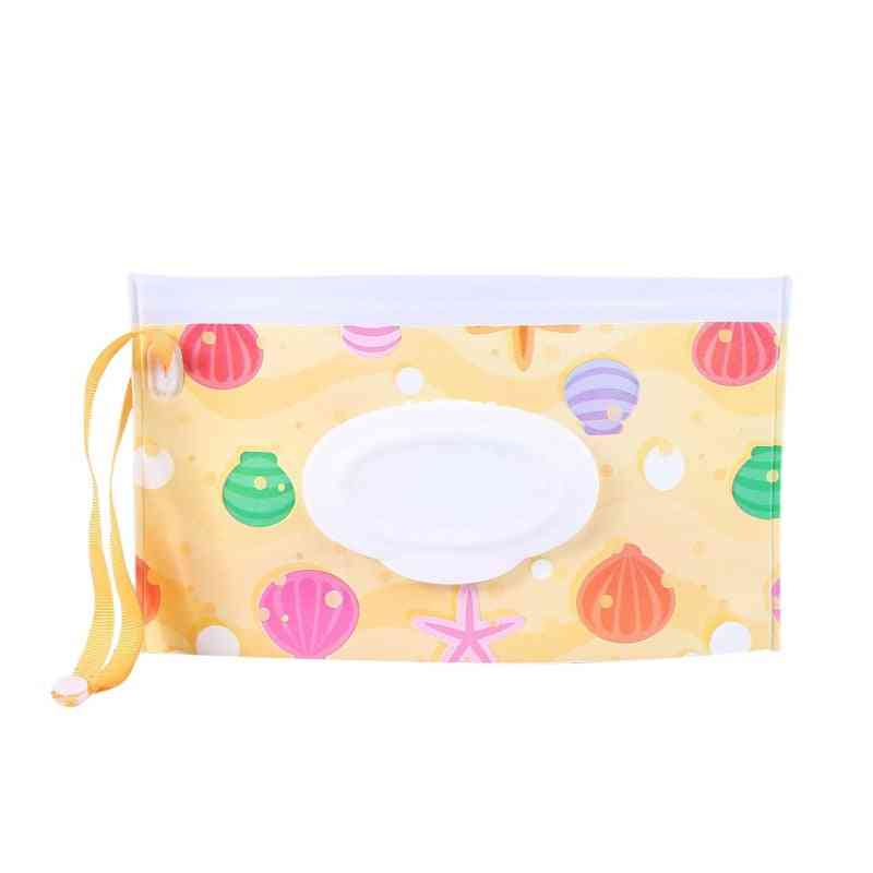 Eco-friendly Eva Box, High Quality Casual Striped Travel Clutch Pouch Holder Wipe Container