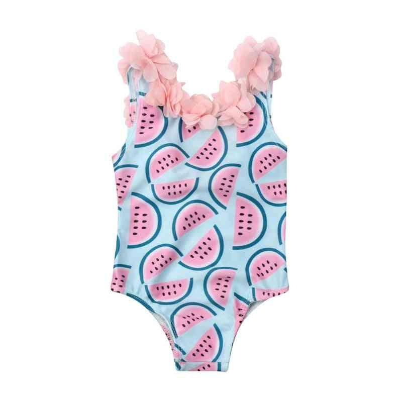 Baby Watermelon Swimsuit, Floral Swimwear Swimming Cute Bikini