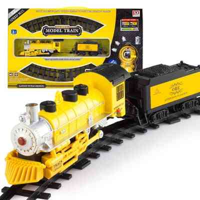 Electric Railway & Classical Enlighten Train Track Railroad Toy