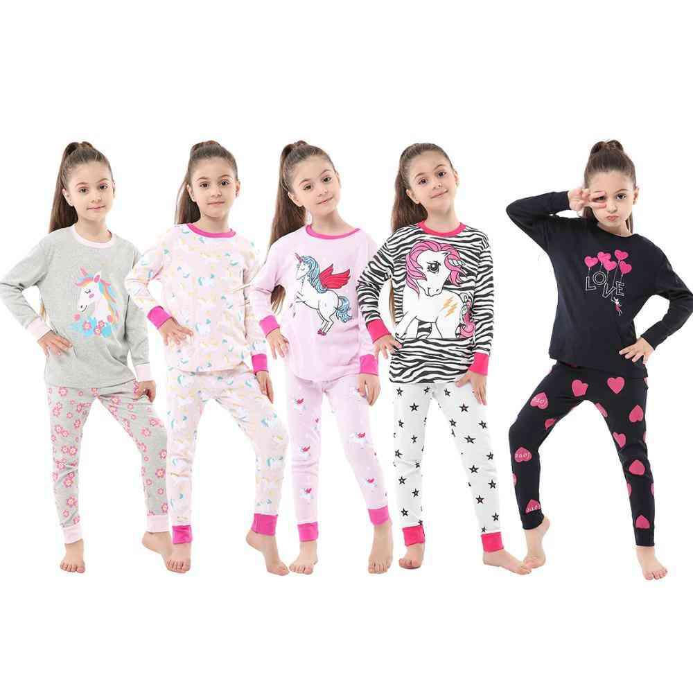 Girls Unicorn Sleepwear Dinosaur Homewear Pyjamas