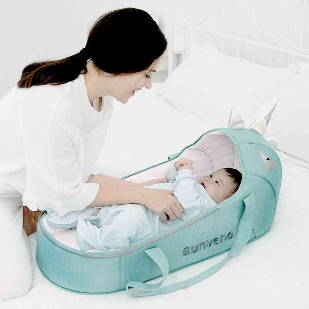 Portable Baby Carrycot Bassinet Travel Bed Crib, Infant Transporter Basket