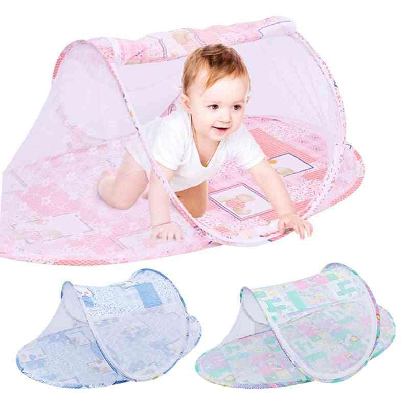 Foldable Mosquito Net Bed, Cute Cartoon  Ligheweight Crib