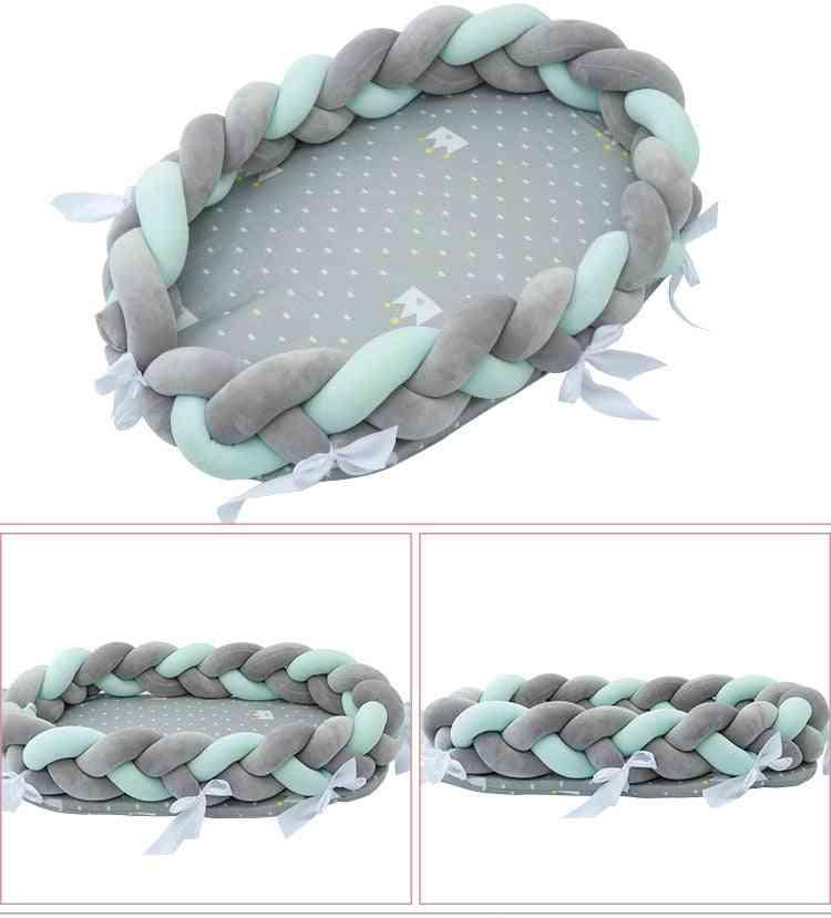 Portable Baby Bionic Bed, Cotton Cradle Bassinet Bumper