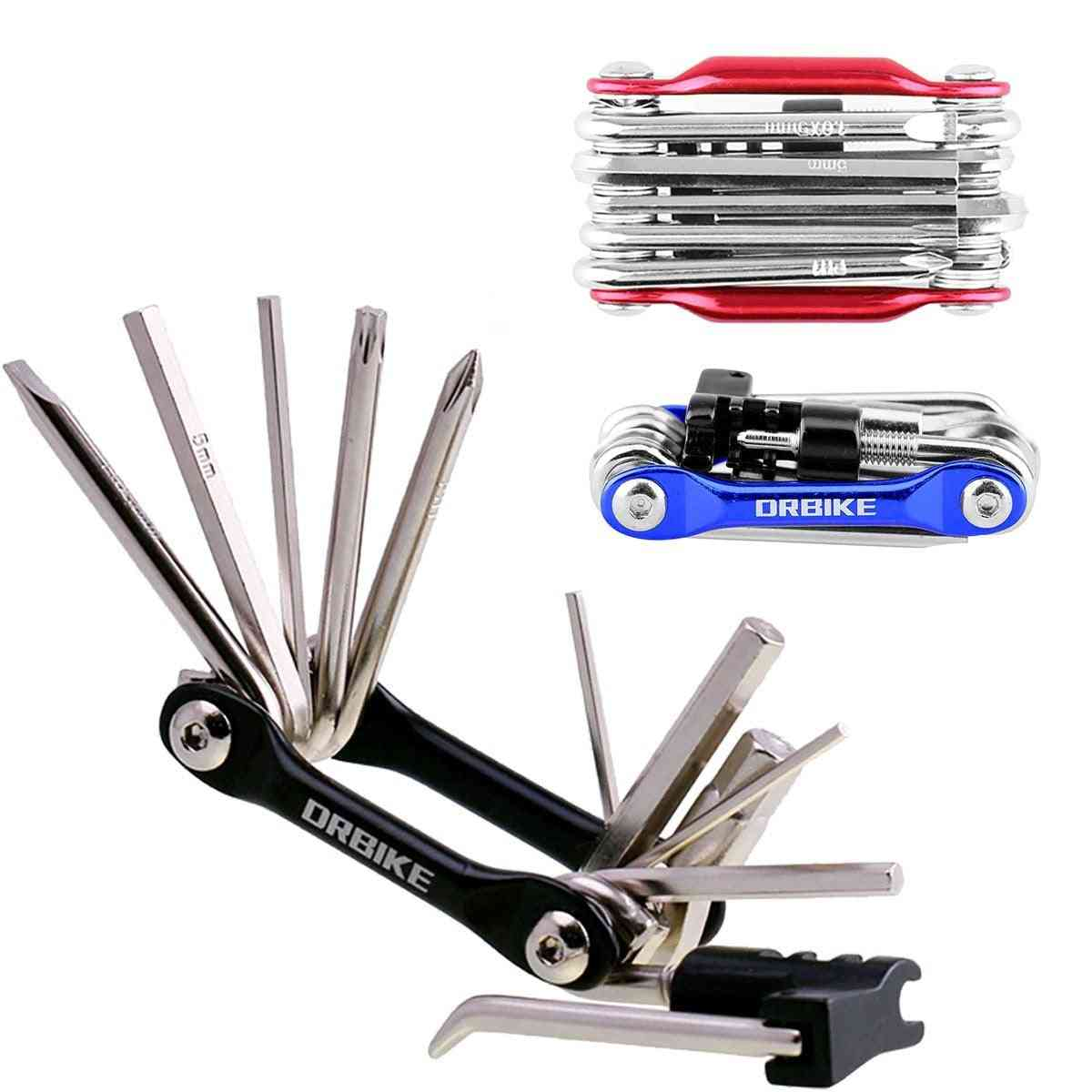 Bicycle Multifunction Tire Repair Tool -set With Screwdriver