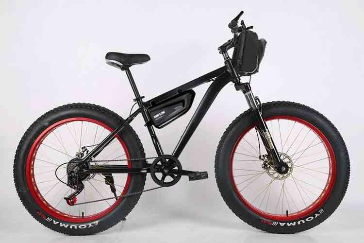 Electric Bicycle, 4.0 Fat Tire Electric Bike, Mens Mountain Snow E-bike Bicycle