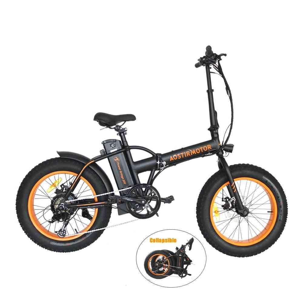 Mens / Women Electric Bike, Lithium Battery Folding Ebike