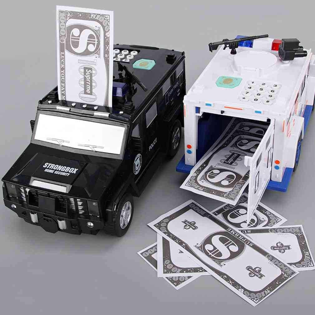 Auto-rolling Banknote Car With Fingerprint Password Toy For Kids