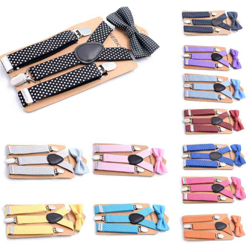 Suspender And Bow Tie Matching Sets For/girls