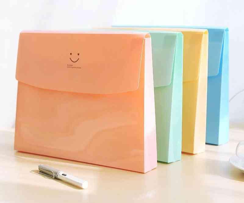 Smile Face File Folder Document Bag Paper Storage Holder