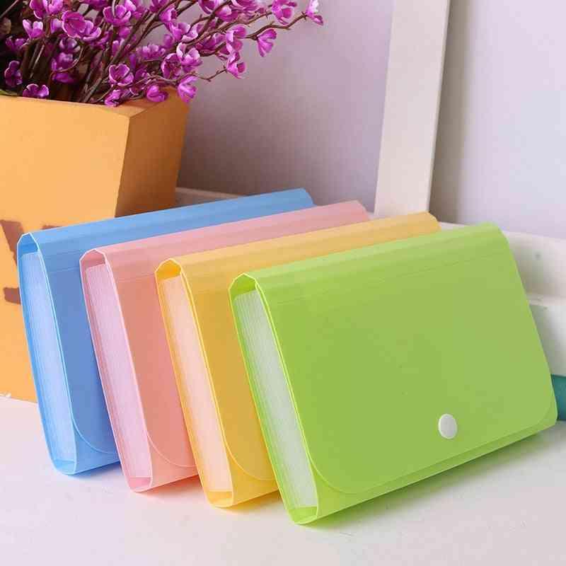Plastic File Folder Document Bags Expanding Wallet Bill School Office Supply