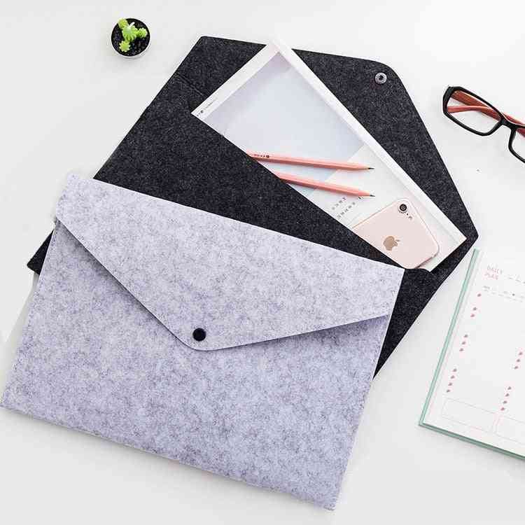 Simple Big Capacity Document Bag Pad Business Briefcase File Folders