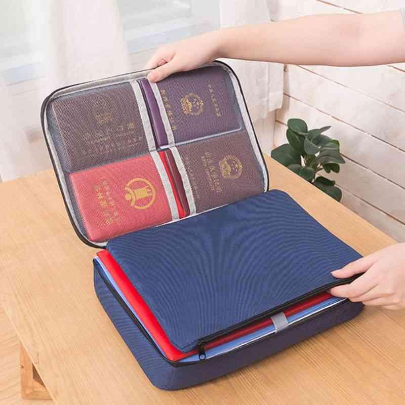 Document Ticket Storage Bag, Waterproof Large Capacity