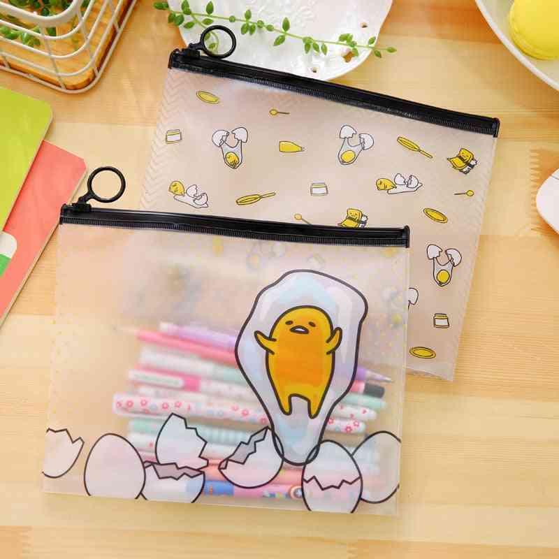 Lazy Egg Cute Cartoon Pvc File Bag Document Folder