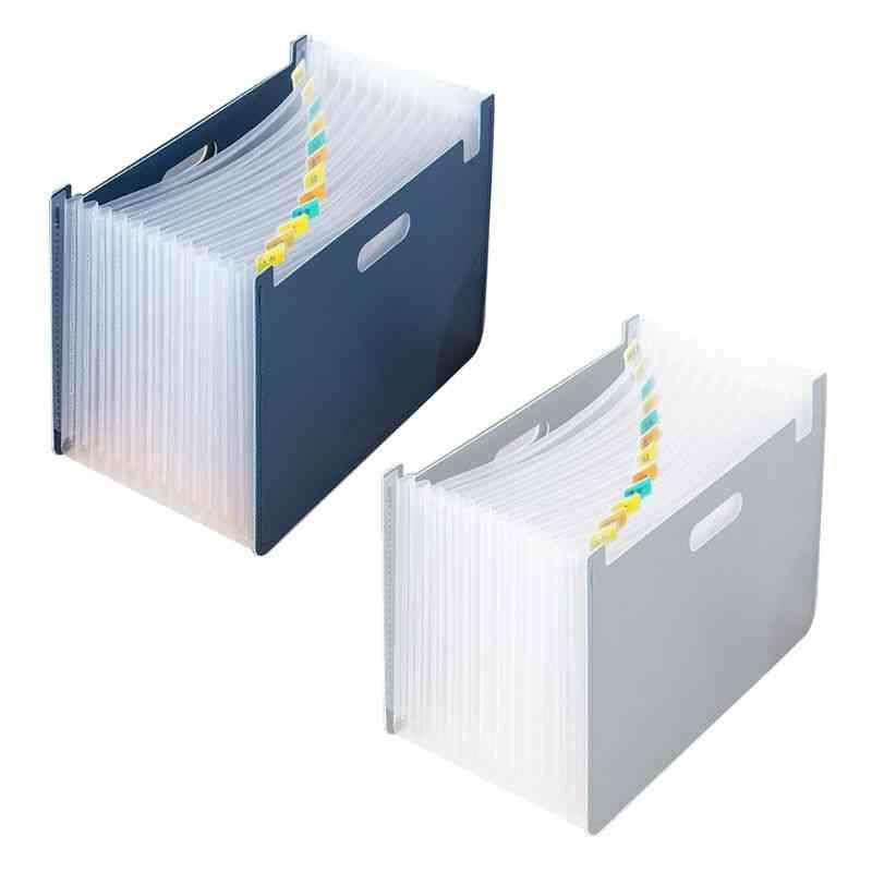 Multi Pockets Expanding File Folder, Organizer Document Paper Storage Holder School Office Stationery