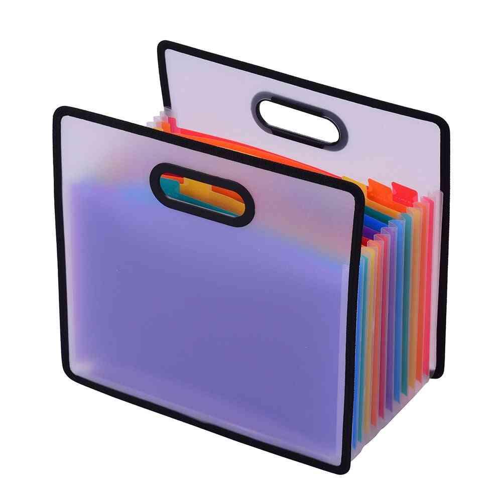 Accordion Expanding File Folder Paper Cabinet Rainbow Portable Receipt Organizer