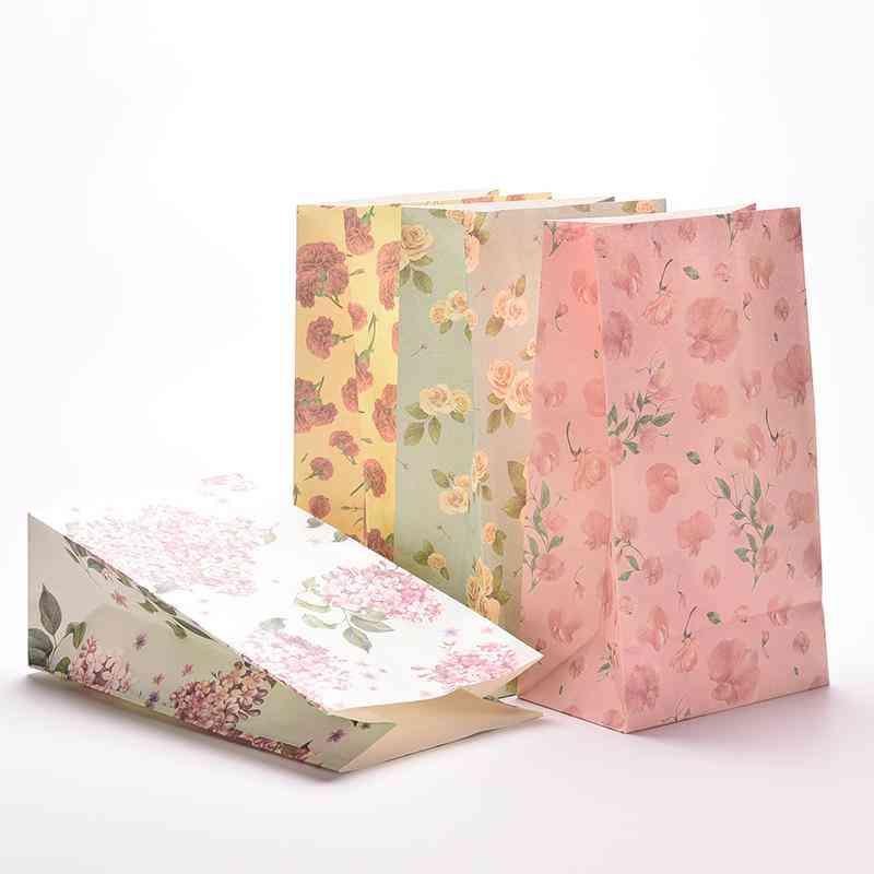 Flower Print Paper Bags