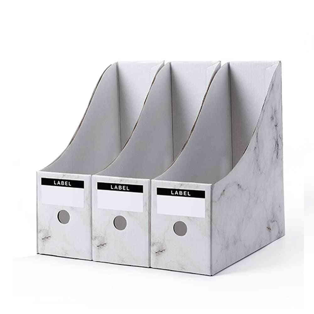 Marble Print Foldaway File Organizer