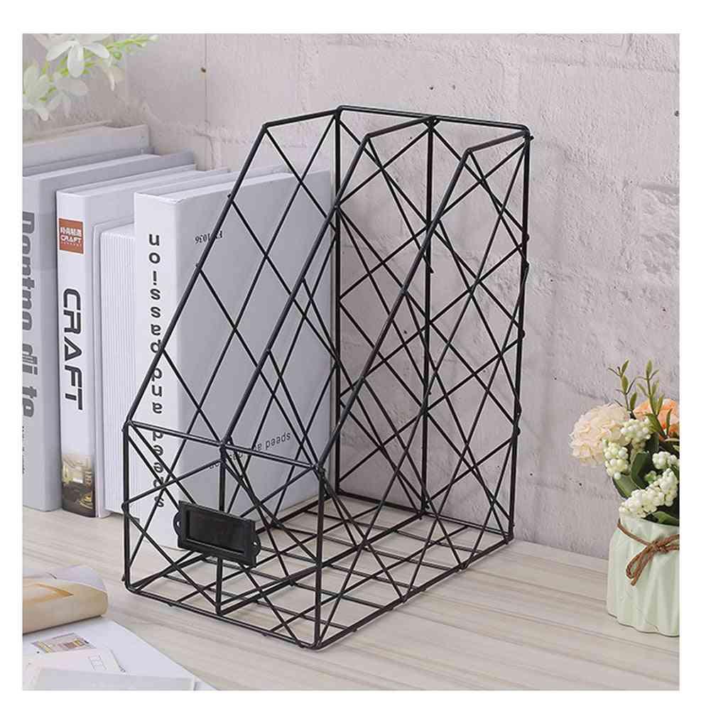 Nordic Style Multi-layer Magazine Rack Iron Stand