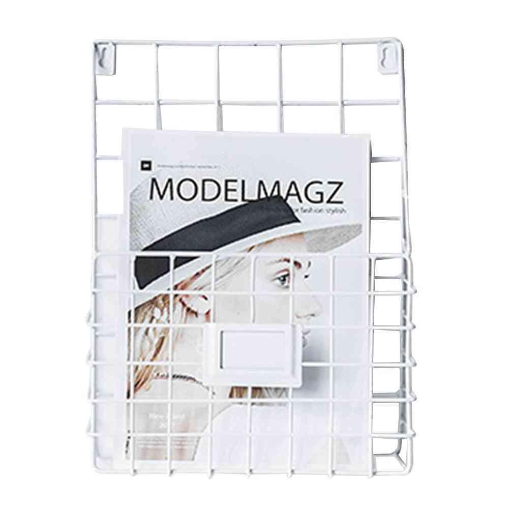 Wrought Iron Magazine Rack, Innovative Simple Wall Decorative Racks