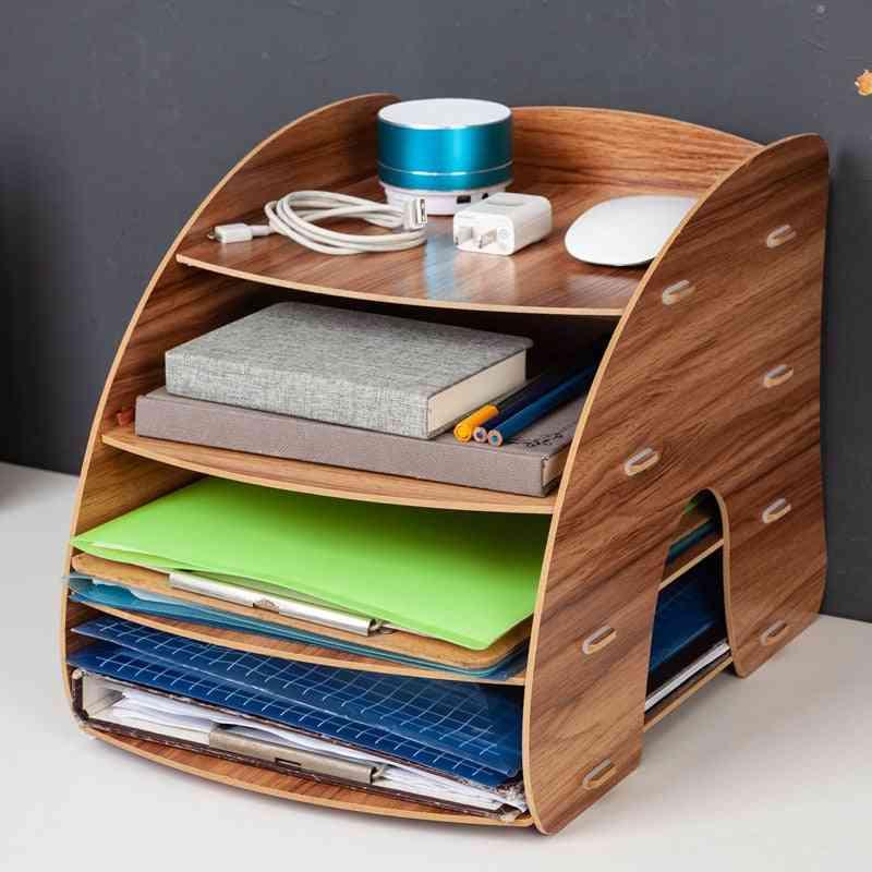 Multi-function Wooden Desk Organizer