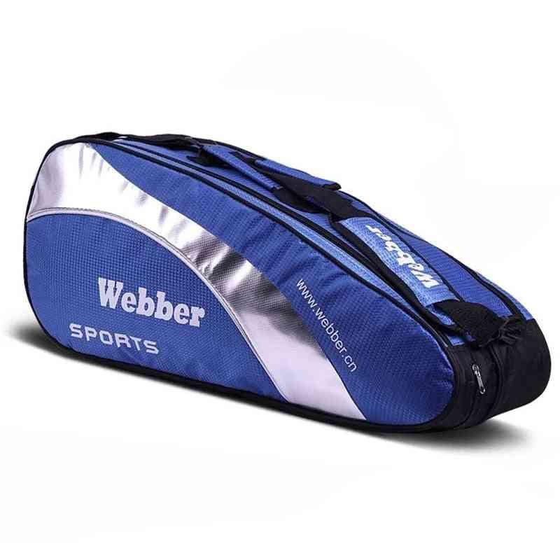 Large Badminton Bags, Sports Racket Handbag - Waterproof Tennis Backpack