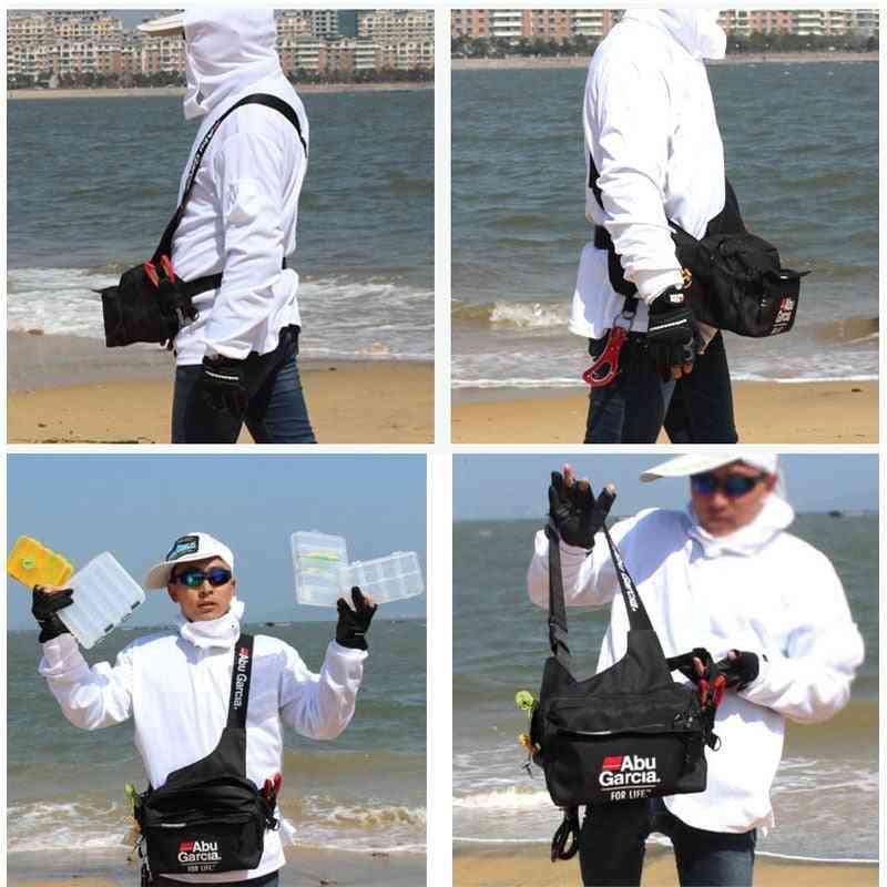 Fishing Tackle Bag, Waterproof Shoulder Pack Case Reel Hook Connector Fanny Bags
