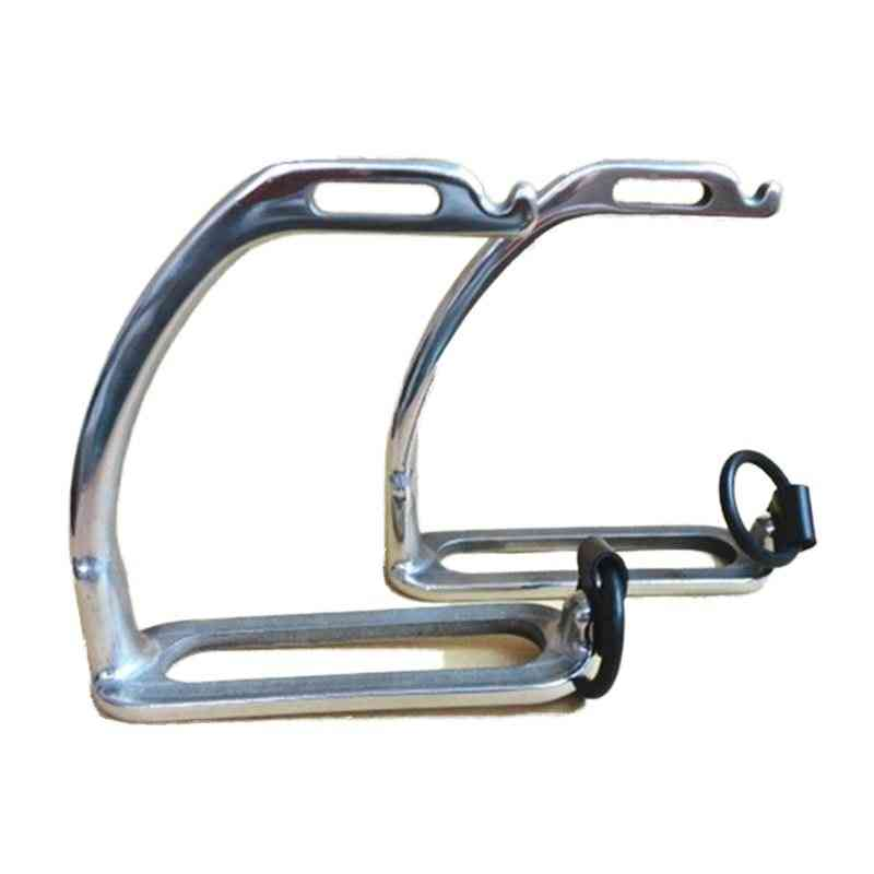 Stainless Steel Peacock Stirrup With Rubber Ring And Leather Strap Without Pad, Horse Equipment