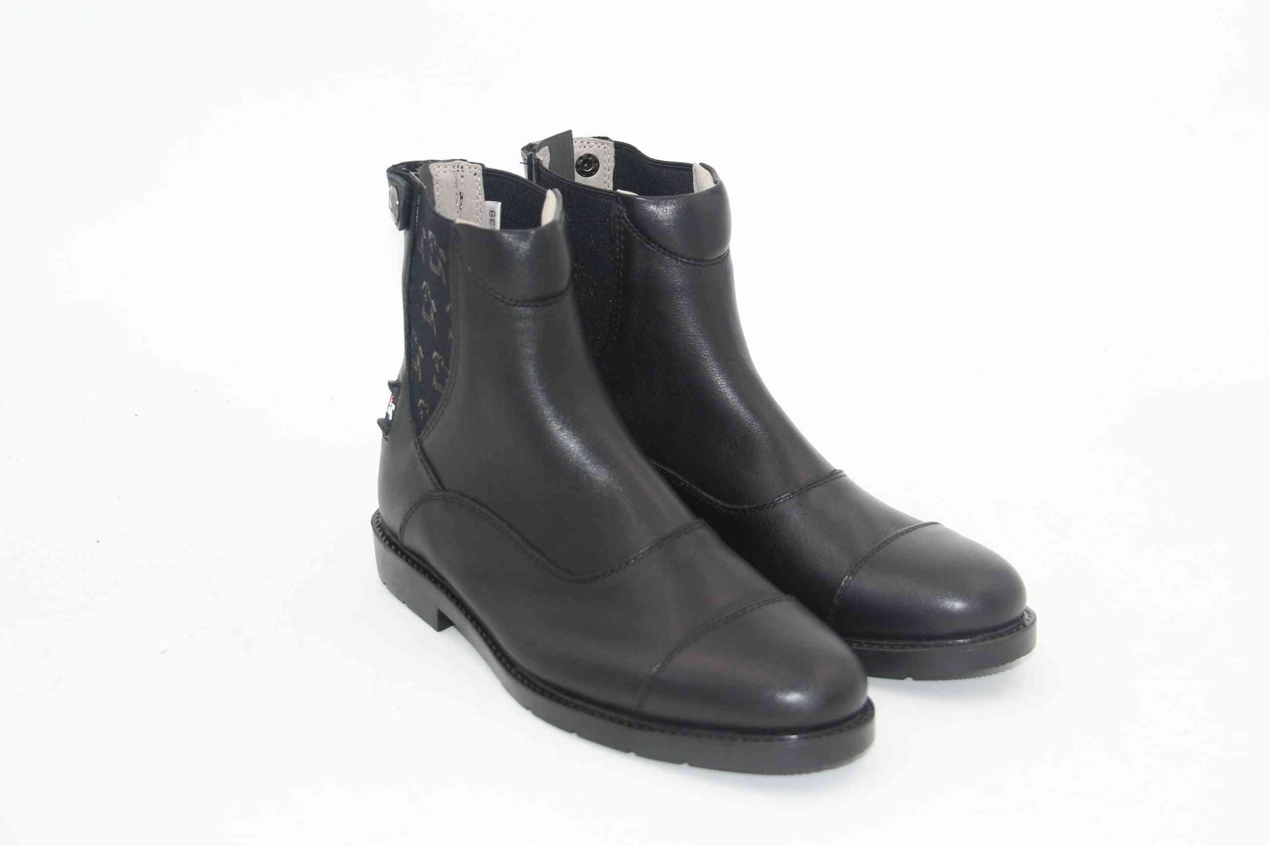 Back Zipper, Full Leather Horse Riding Boots