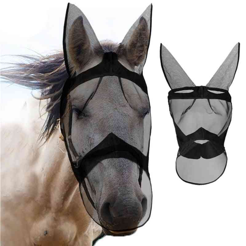 Anti-mosquito Horse Mask-breathable, Comfortand Removable
