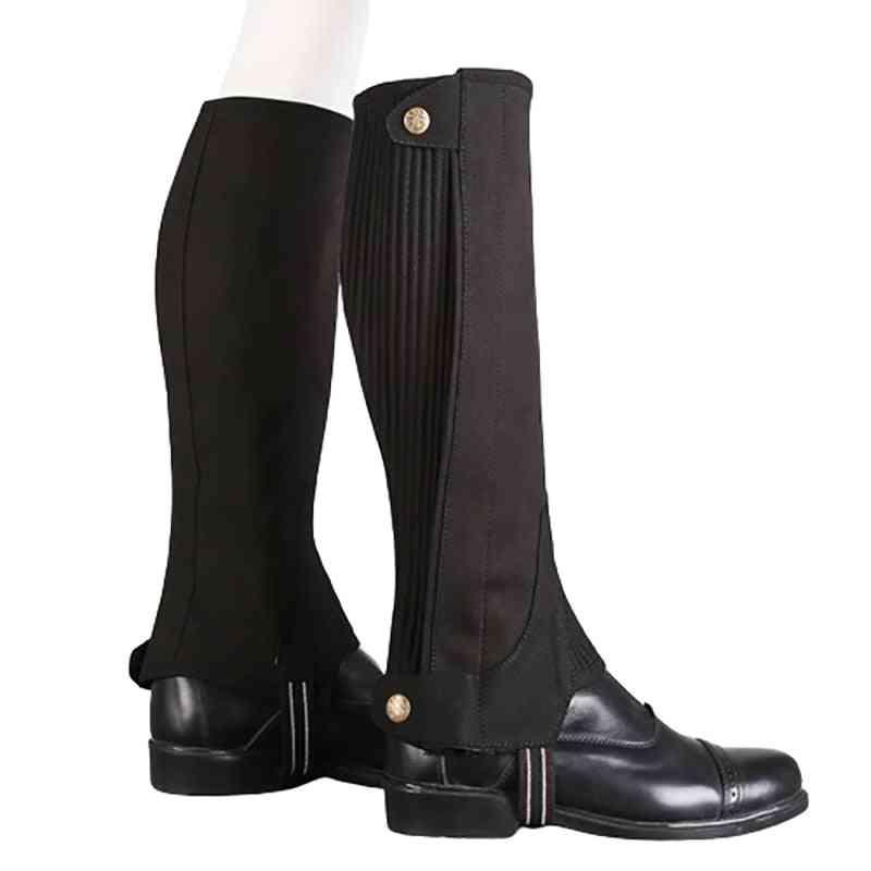 Microfiber Equestrian Gaiter, Half Chaps Durable Horse Riding Boots Cover