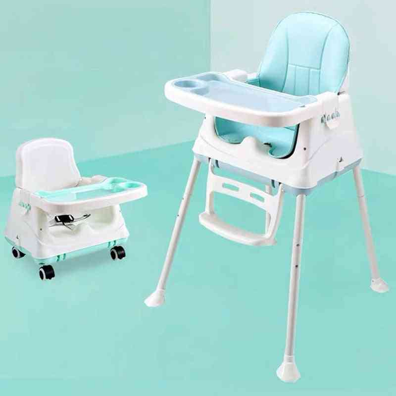 Cushion Booster 3 In 1 Foldable Portable Plastic Dining Baby Feeding High Chair