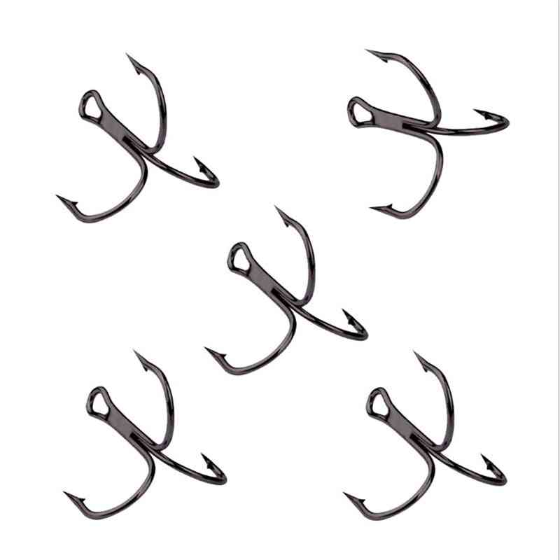 High Carbon Steel-treble Overturned Fishing Tackle, Round Bend Treble For Bass